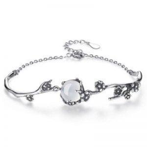 Bracelet en argent 925 et pierre de lune