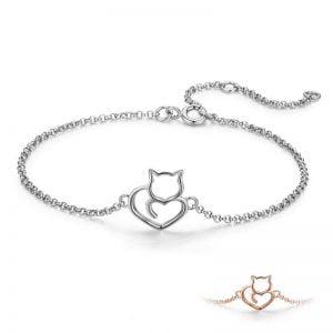 Bracelet chat argent 925