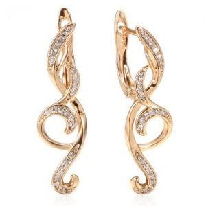 Boucles d'oreilles pendantes en Or Rose