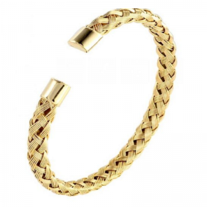 Bracelets en acier inoxydable, couleur Or