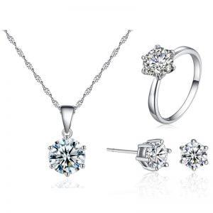 Offre exceptionnelle : Ensemble collier, bague, boucles d'oreilles pour femme