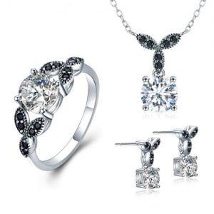 Ensemble de bijoux en argent 925 millièmes