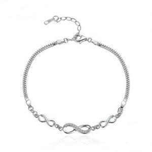 Bracelet en argent 925 signes infini pour femme