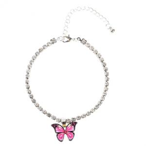 Bracelet de cheville pendentif papillon pour femme