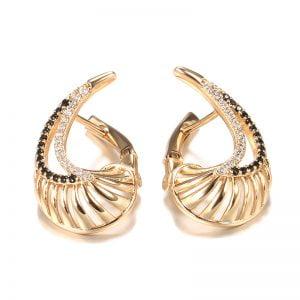 Boucles d'oreilles en Or Rose avec Zircon