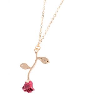 Collier avec pendentif en forme de Rose
