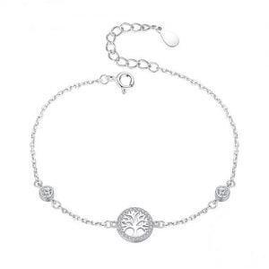 Bracelet Arbre de vie en argent 925 et Zirconiums