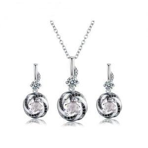 Ensemble de bijoux en argent 925 et zirconiums