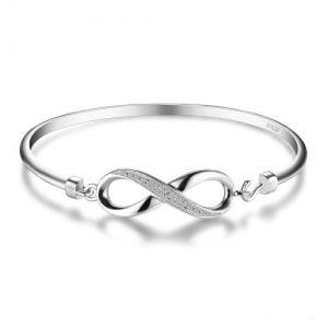 Bracelet infini argent 925 femme