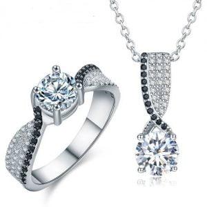 Parure de bijoux argent 925 millièmes Oxydes de Zirconium