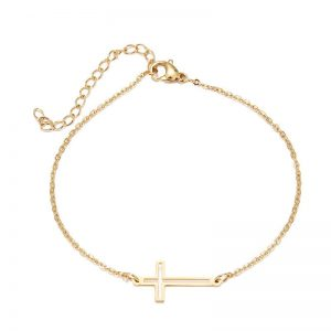 Bracelet Croix en acier inoxydable pour femme