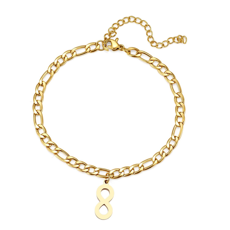 Bracelet de cheville en acier inoxydable pour femme