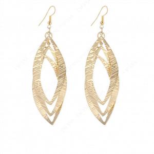 Boucles d'oreilles géométriques pendantes ovales