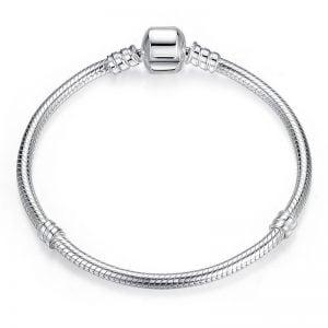 Bracelet souple en argent 925 pour femme
